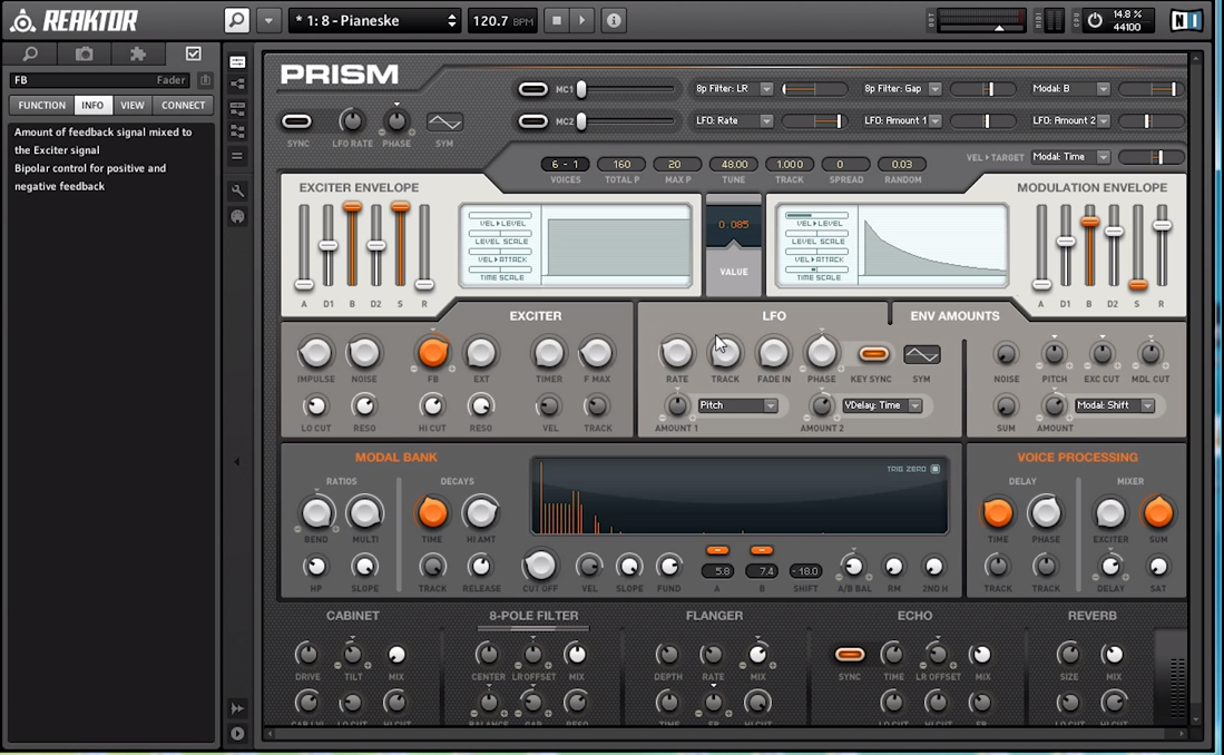 A Detailed Demonstration of the Prism Reaktor Ensemble