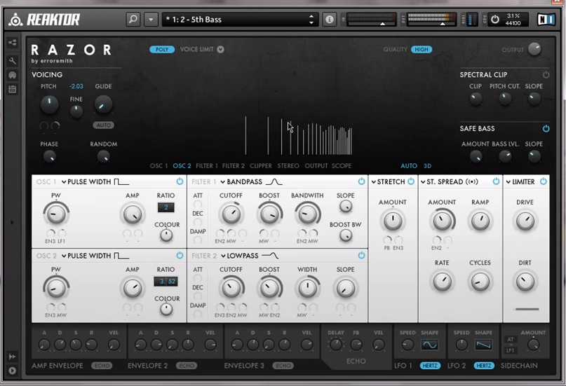 Examination of the Razor Ensemble for Reaktor – Part 1