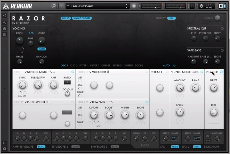 Examination of the Razor Ensemble for Reaktor – Part 4