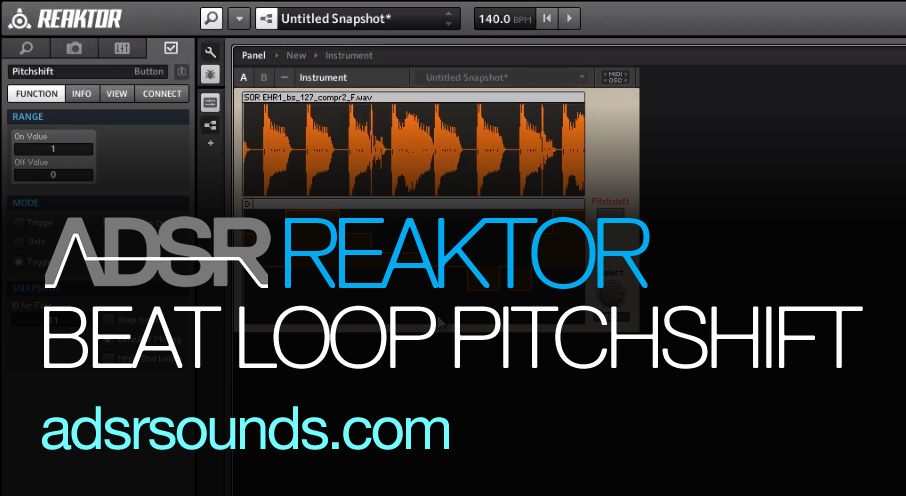 Reaktor Beat Loop Module – Dynamic Pitchshifting