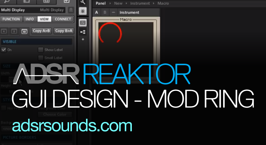 Reaktor GUI Design – Create a Massive-style Modulation Ring