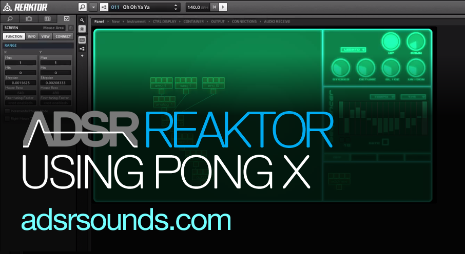 Reaktor User Library – PongX