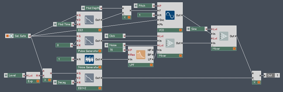 How to Make a 909 Kick in Reaktor - ADSR