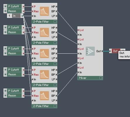 Advanced Formant Filter in Reaktor - ADSR