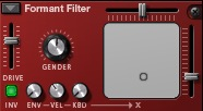 Advanced Formant Filter in Reaktor - ADSR